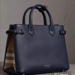 Burberry Banner Blue medium Bag NWT